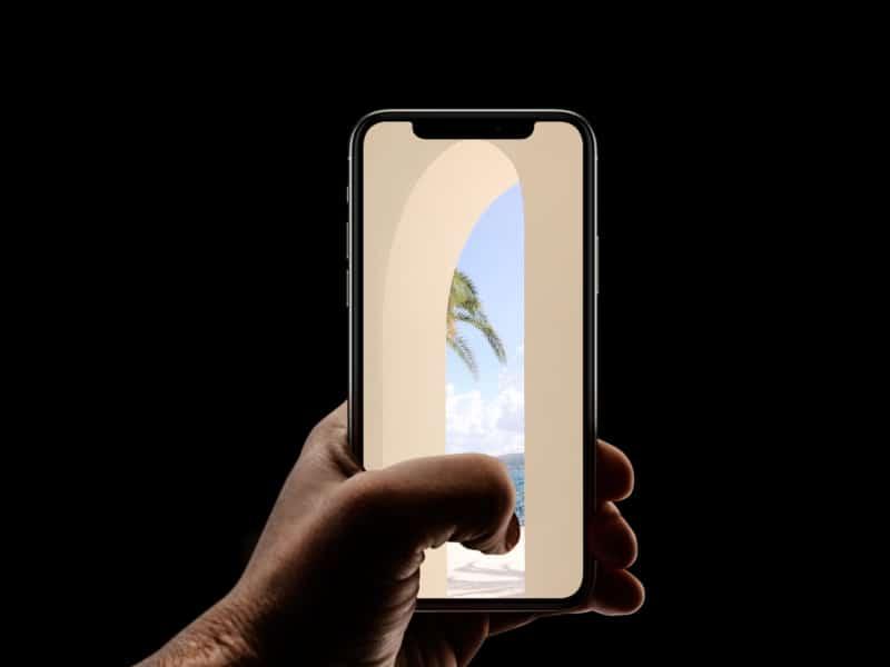 Скрытый пляжный фон для iPhone