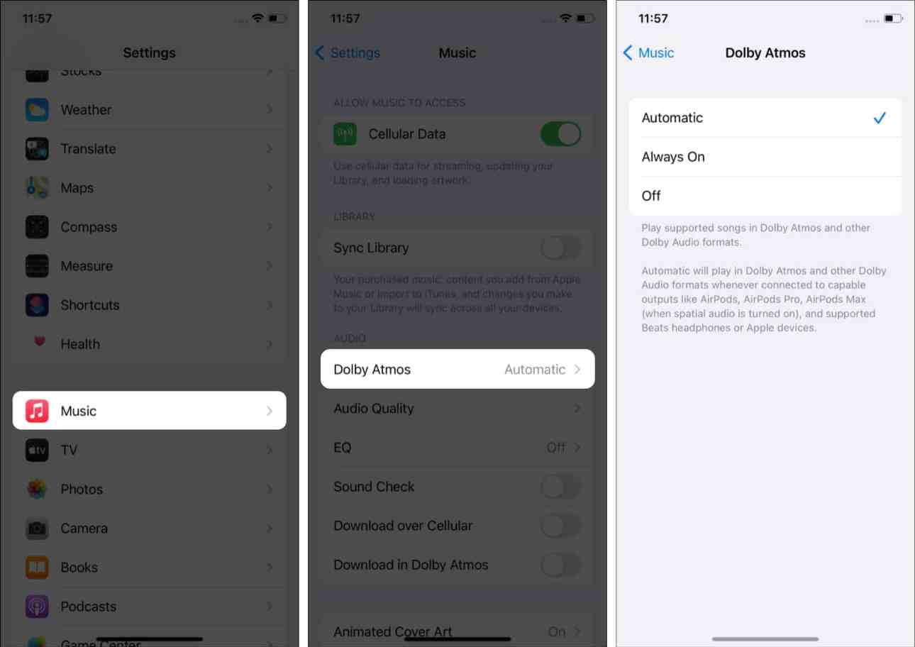 Как слушать Dolby Atmos в Apple Music на iPhone