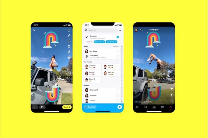 Функция Snapchat в центре внимания
