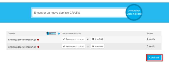 Dominios gratis en el Instituto Galego de Formación