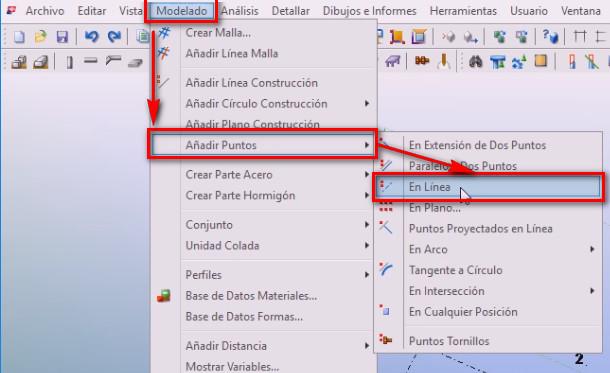 Añadir puntos en línea en Tekla Structures - Instituto Galego de Formación