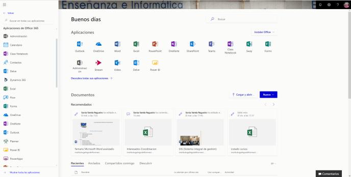 Aplicaciones Office 365 - Instituto Galego de Formación
