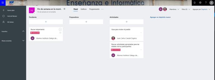Depósitos Planner - Instituto Galego de Formación