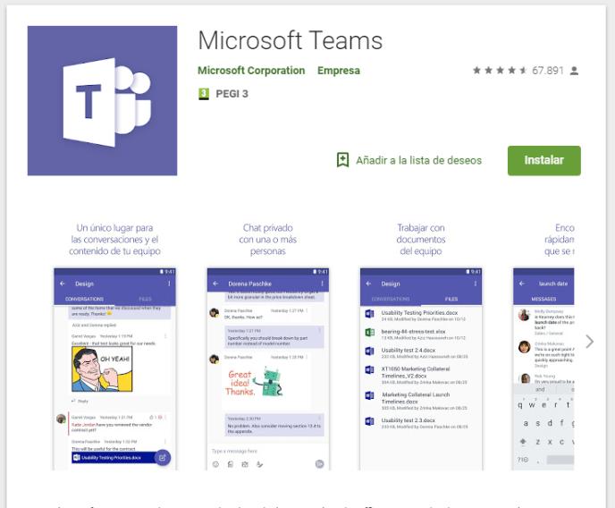 Microsoft Teams Play Store - Instituto Galego de Formación