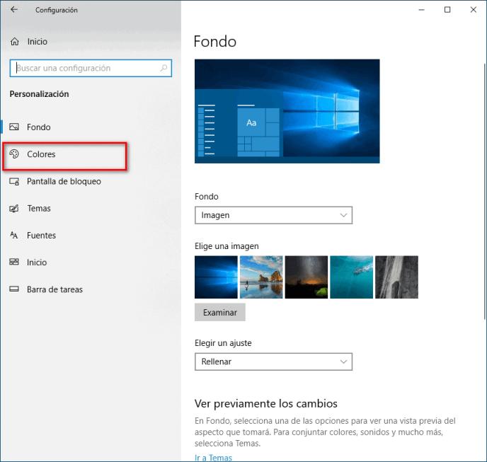 Personalización de Windows 10 - Instituto Galego de Formación