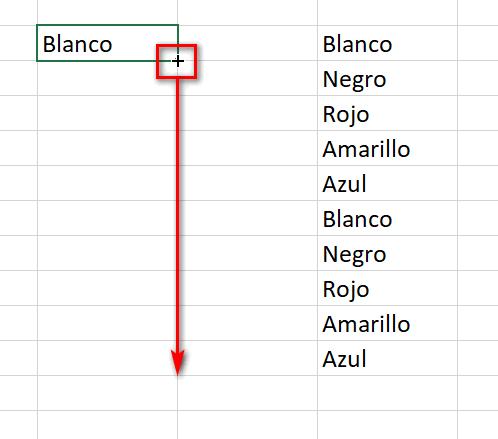 Resultado rellenar celdas en Excel - Instituto Galego de Formación