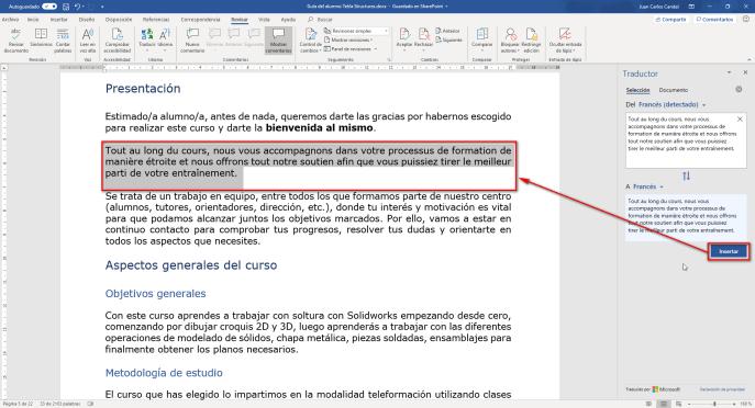 Texto traducido - Instituto Galego de Formación