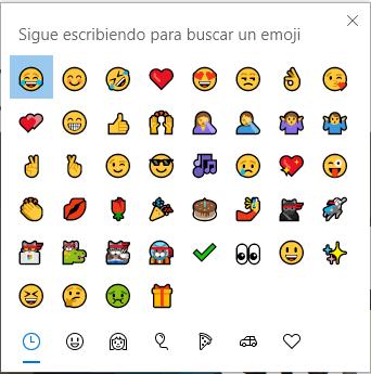 emojis en Windows 10 - Instituto Galego de Formación