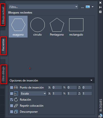 Fichas de la paleta de bloques de AutoCAD - Instituto Galego de Formación