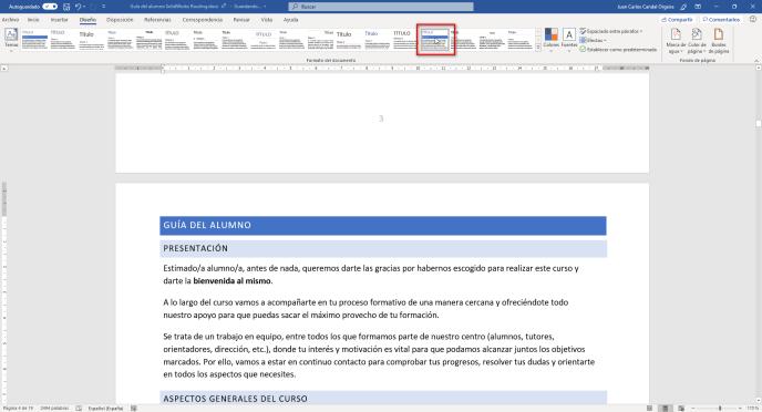 Temas en Word aplicado - Instituto Galego de Formación