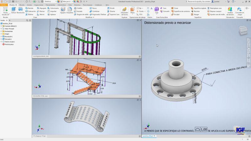 Curso profesional de Autodesk Inventor bonificado - igf.es