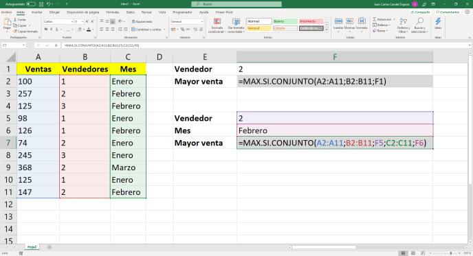 Función sumar.si.conjunto - Instituto Galego de Formación