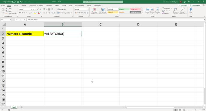 Función aleatorio() de Excel - Instituto Galego de Formación