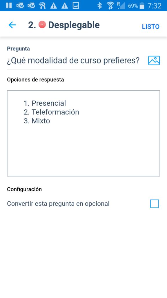 Agregar un pregunta tipo desplegable 03 - Instituto Galego de Formación