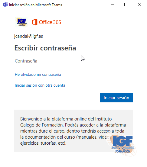 Instalar Microsoft Teams - Instituto Galego de Formación