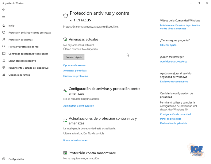Corregir problema con Windows Defender pasar antivrus - igf.es