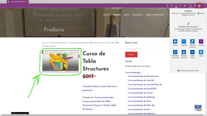 Agregar notas en una página web barra de herramientas - igf.es