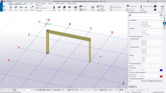 Cambiar el color de la malla en Tekla Structures - igf.es