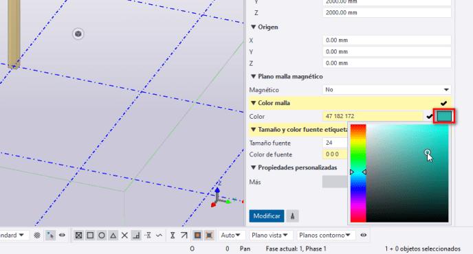 Seleccionar el color de la malla en Tekla Structures - igf.es