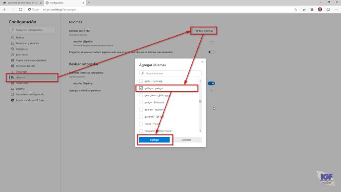 Cambiar el idioma de trabajo de Microsoft Edge - igf.es