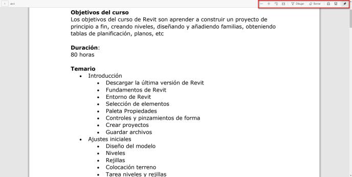 Dibujar en un documento pdf con Edge - igf.es