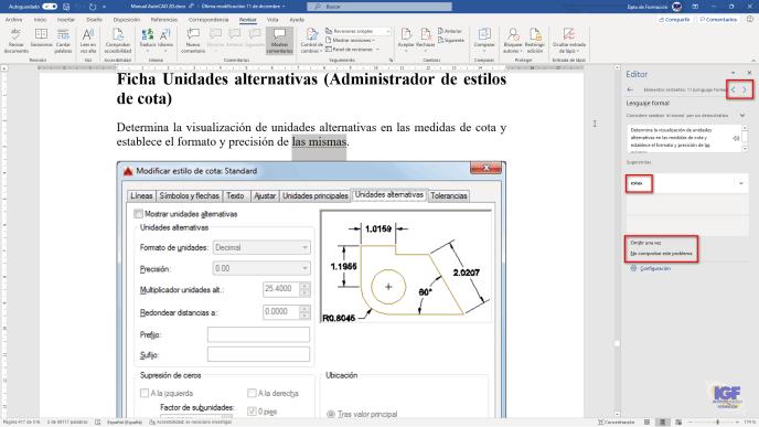 Editor es el asistente de escritura de Word - igf.es