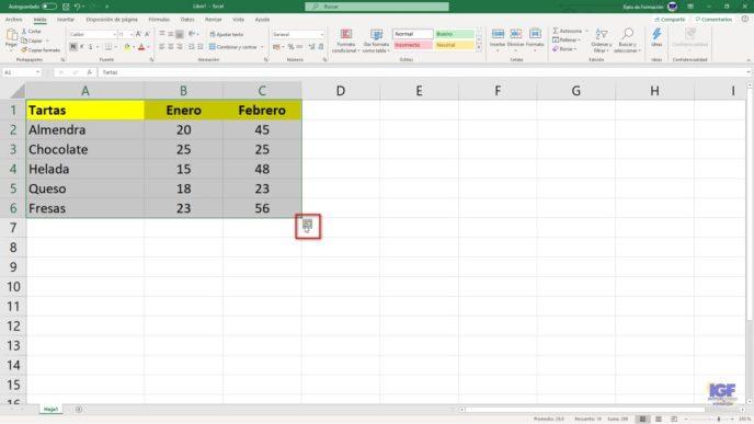 Analizar datos rápidamente con Excel - igf.es