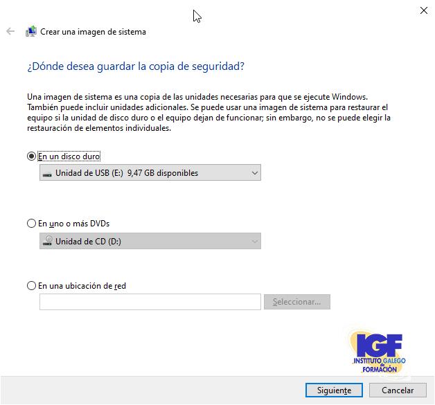 Crear una imagen del sistema - igf.es