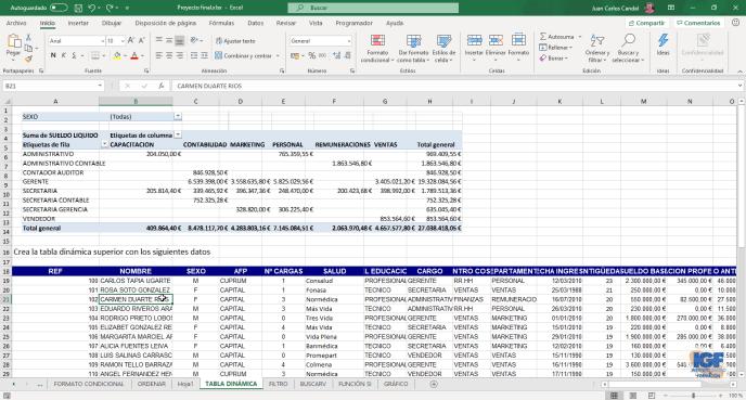 Cursos profesionales de Microsoft Excel tablas dinámicas - igf.es