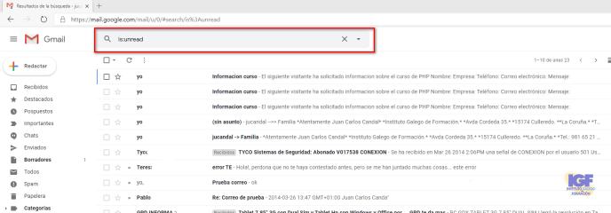 Mostrar solo los mensajes no leídos - igf.es