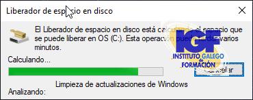 Liberador espacio en Windows 10