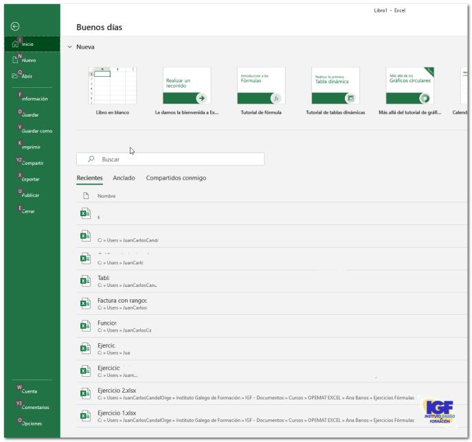 Métodos abreviados de teclado para Microsoft Excel - igf.es