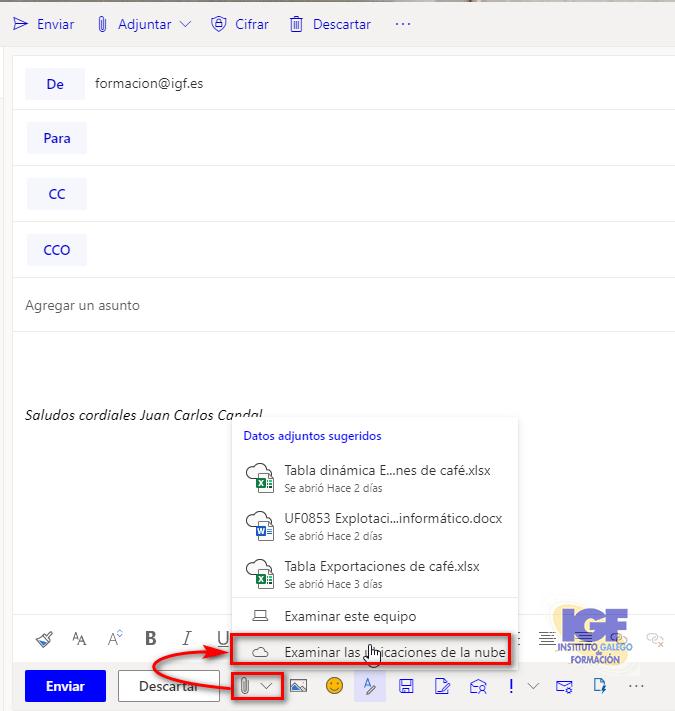 google drive conectado a OWA - igf.es