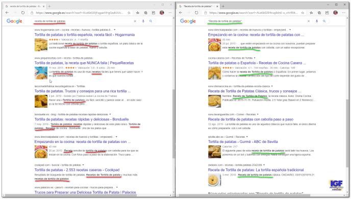 Buscar frases exactas en Internet en Google - igf.es