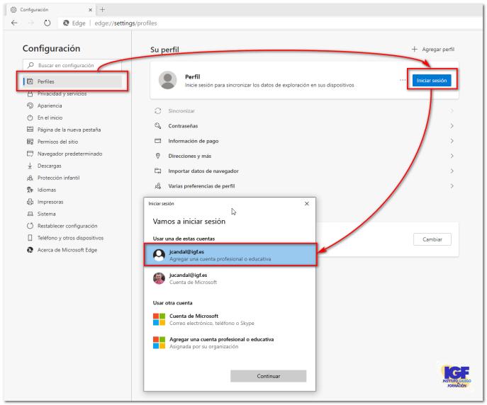 Como buscar en tu intranet perfiles - igf.es