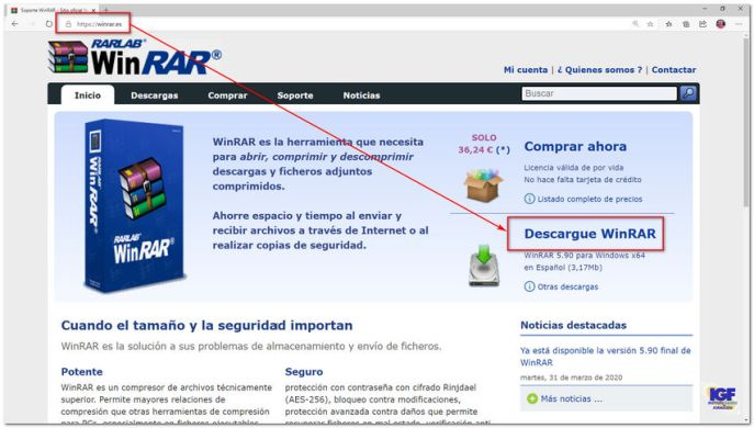 Como descargar Winrar en Windows - igf.es
