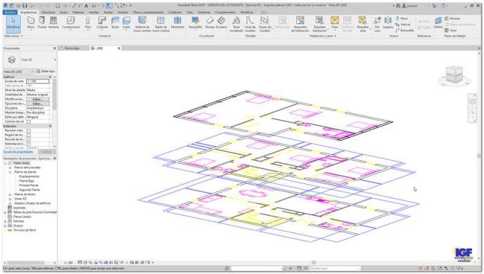 Tareas importar cursos Autodesk Revit - igf.es