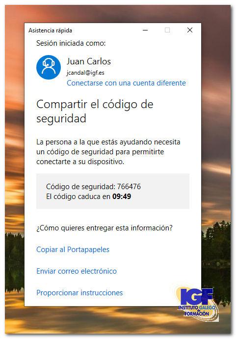 código asistencia rápida - igf.es