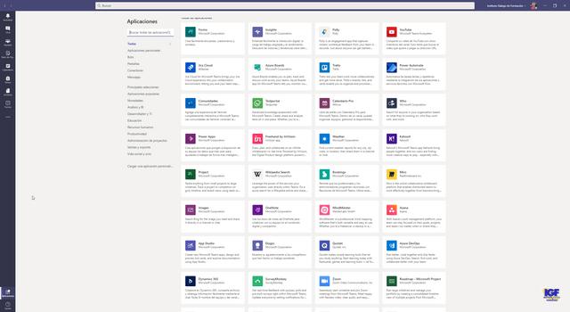 Aplicaciones en Microsoft Teams - igf.es
