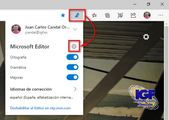 Configurar Editor Microsoft - igf.es
