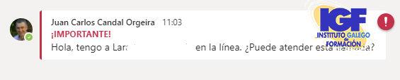 Mensaje de consulta - igf.es