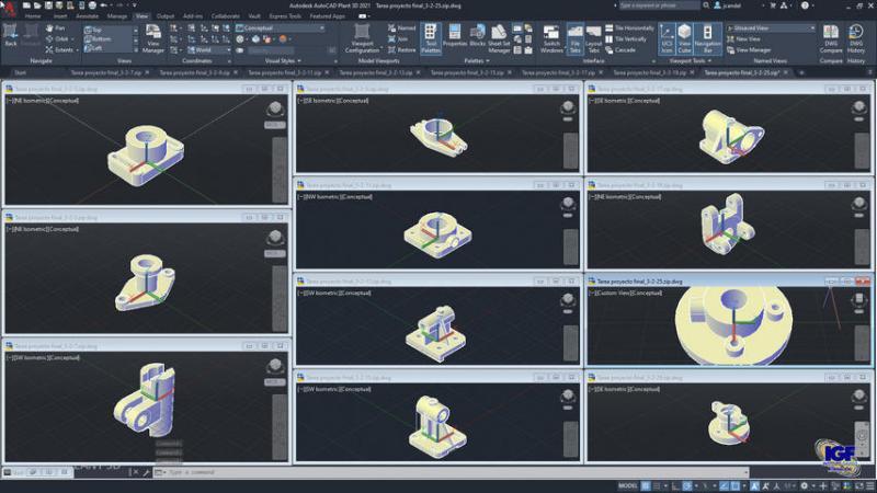 Curso PREMIUM de AutoCAD 2D y 3D bonificado - igf.es