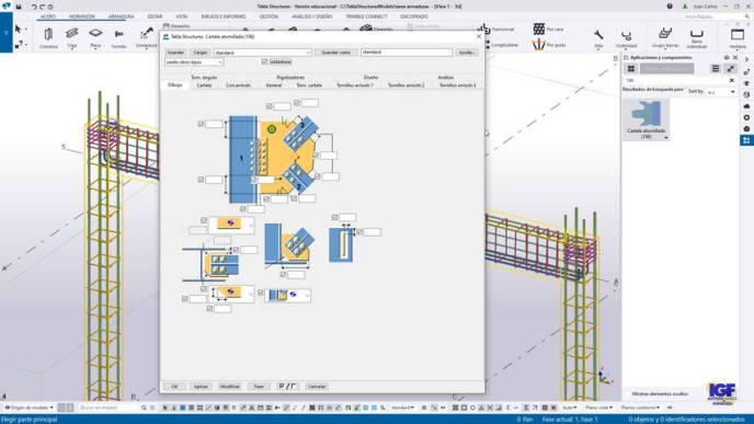 Componentes acero Tekla Structures 2021