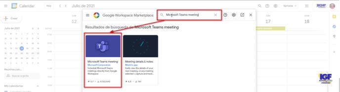 Teams en Gmail
