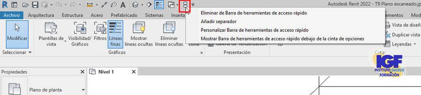 eliminar herramientas Revit 2022 - igf.es