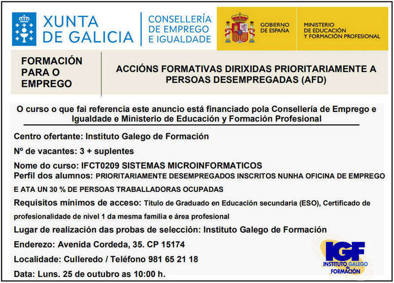 Convocatoria pública IFCT0209