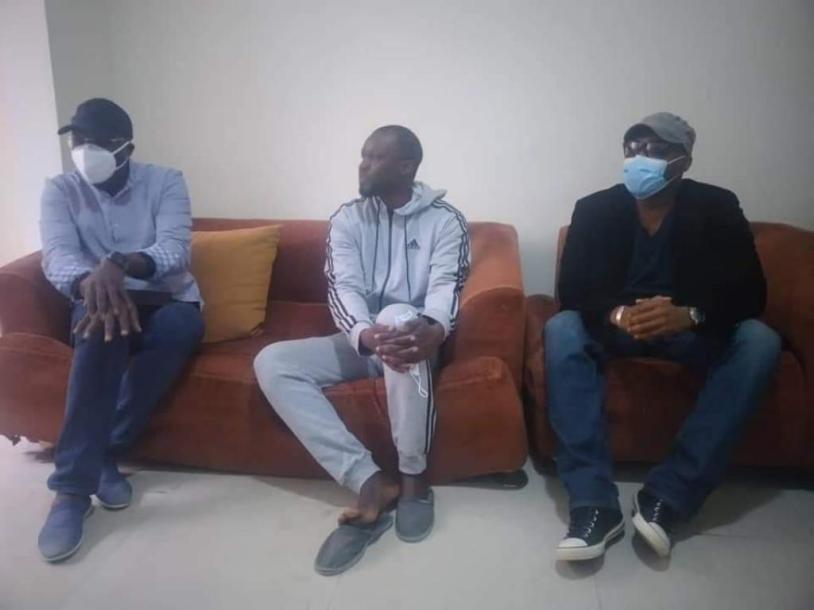 (Photos)-Cité Keur Gorgui : Khalifa Sall et Barthelémy Dias chez Ousmane Sonko