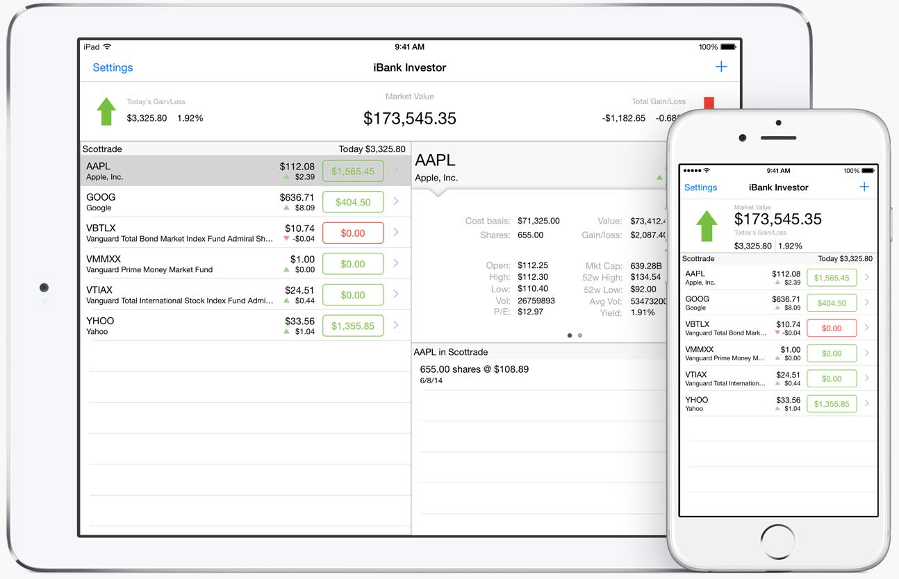 Banktivity Investor is a free Investment App Designed for iOS