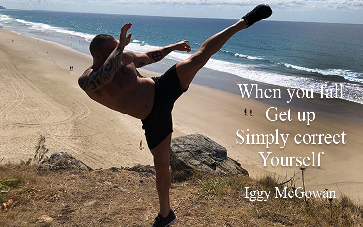When You  Fall Get Up Simply Correct Yourself