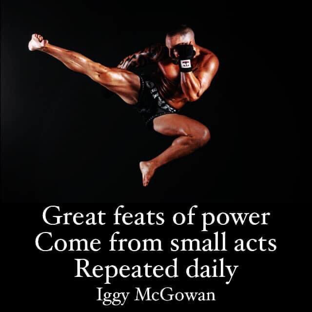 Great Feats of Power Come From Small Acts Repeated Daily